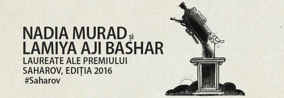 Nadia Murad e Lamiya Aji Bashar, laureadas com o Prémio Sakharov para a Liberdade de Pensamento de 2016